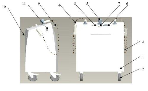 Agregat do masażu podwodneg - AquaMobil - rys.pogladowy