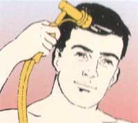 Masażer Aquavibron - masaż głowy