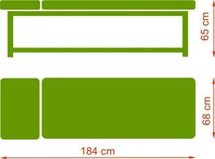 Leżanka drewniana Primo - wymiary
