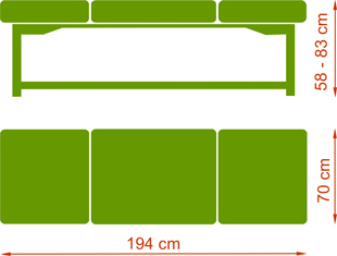 Leżanka drewniana Nova Komfort Merbau