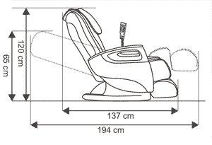 Fotel masujący Milan - specyfikacja