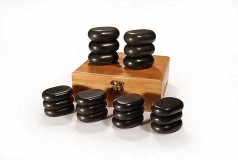 Kamienie bazaltowe - zestaw 18 kamieni