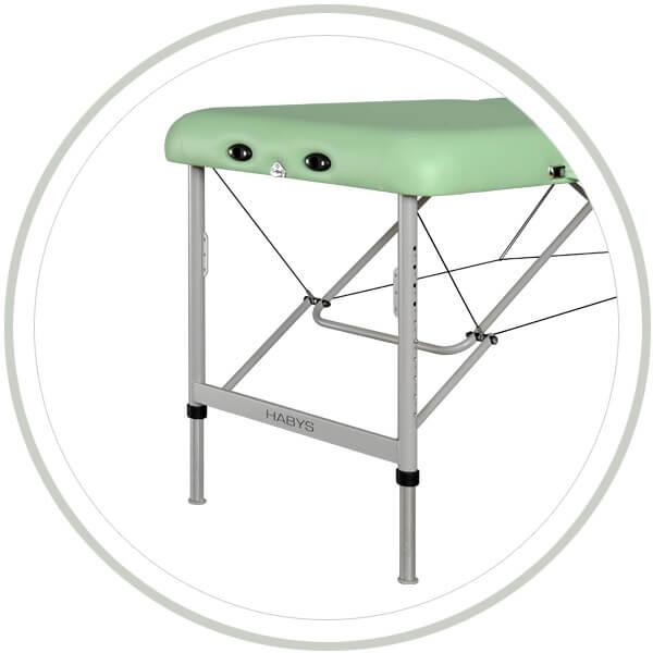 Stabilna i ultralekka konstrukcja stołu Areo