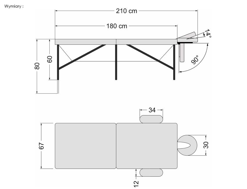 Parametry stołu składanego Premium ULTRA ALU