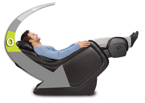 Fotel masujący HT w pozycji Zero G