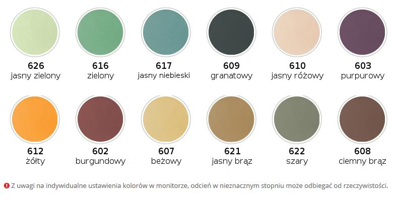 Wzornik kolorystyczny tapicerki Soft Touch