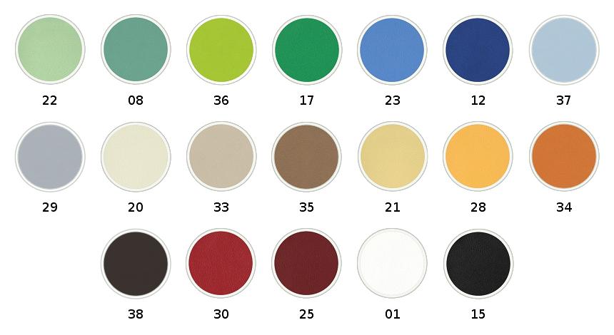 Wzornik kolorystyczny tapicerki dla taboretu Beta