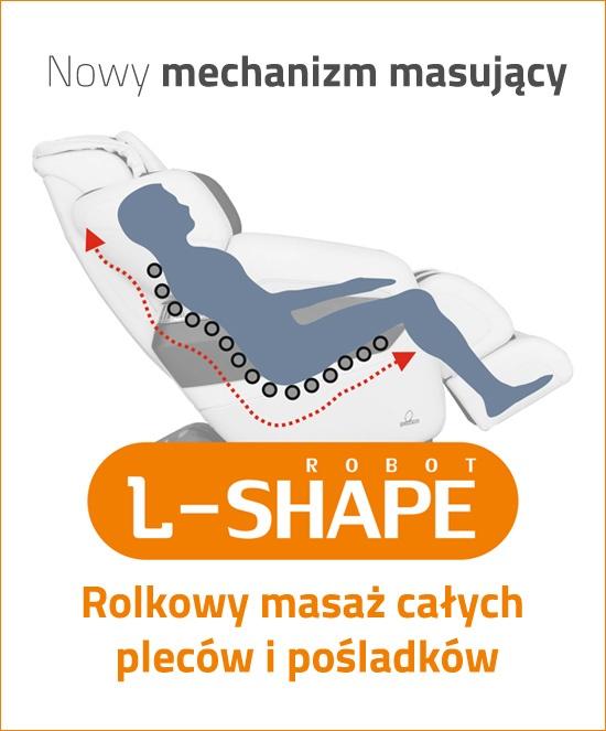 Mechanizm L-shape w fotelu masującym Tyrol