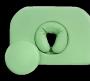 Zagłówek z okrągłą zatyczką i poduszką